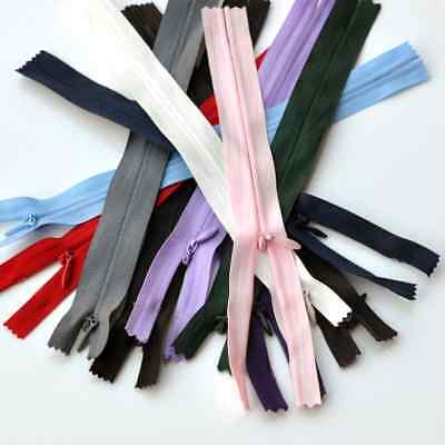 """Range Of Top Quality Invisible Zips /Concealed Zips 7"""" - 22"""" + Great Colours"""