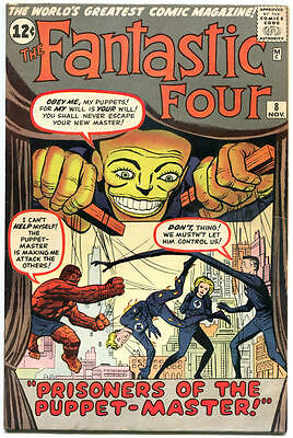 FANTASTIC FOUR #8, VF-, 1st Pupper Master, Jack Kirby, 1961, more in store, QXT
