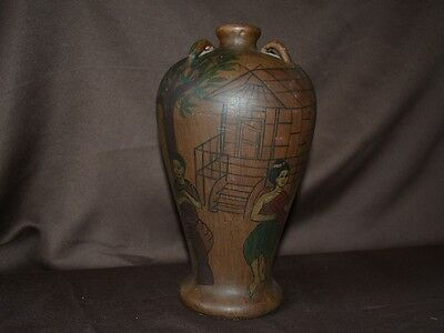 Antique Islamic Pottery Ceramic Middle Eastern Earthenware Morrocan Souk vase
