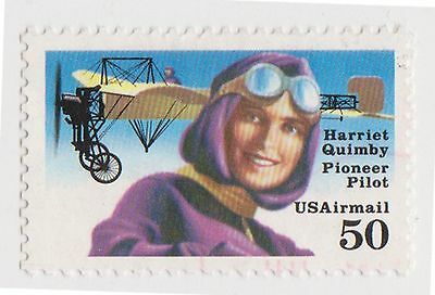 (UST-489) 1991 USA 50c H. QUIMBY Air Mail (C)