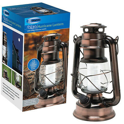 Retro Copper Battery Lantern/Lamp LED Light Hanging Indoor/Outdoor/Camping