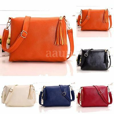 Women Shoulder Bag Messenger Crossbody Satchel Lady Tassel Tote Purse Handbag