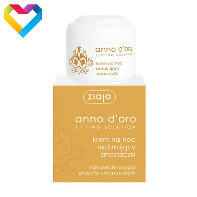 ZIAJA ANNO D'ORO ANTI - WRINKLE LIFTING NIGHT CREAM MATURE SKIN 40+ 50ml 00893