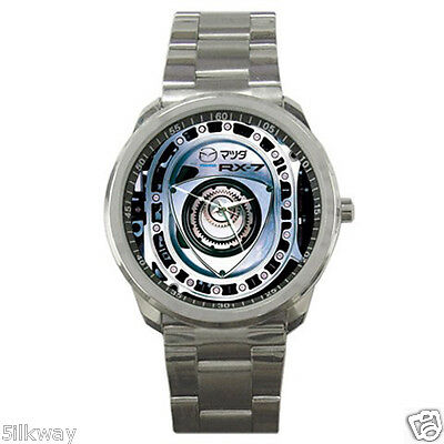 New and Hot マツダ with Logo Mazda RX7 Rotary Engine Style Sport Metal Watch