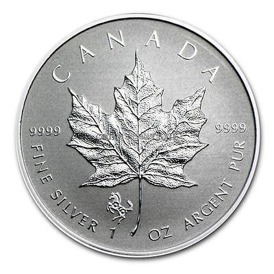 2014 1 oz Silver Canadian Maple Leaf Coin - Lunar Horse Privy - SKU #79543