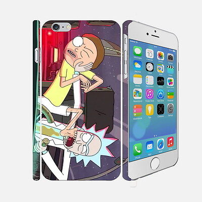 021 Rick And Morty - Apple iPhone 4 5 6 Hardshell Back Cover Case