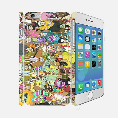 050 Rick And Morty - Apple iPhone 4 5 6 Hardshell Back Cover Case