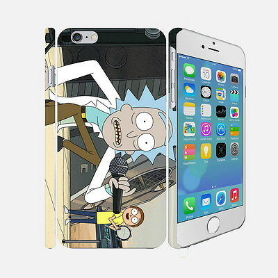 054 Rick And Morty - Apple iPhone 4 5 6 Hardshell Back Cover Case
