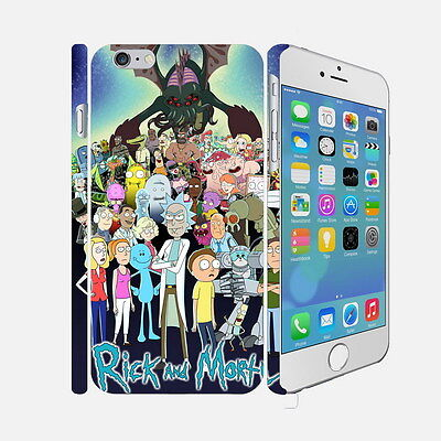 060 Rick And Morty - Apple iPhone 4 5 6 Hardshell Back Cover Case