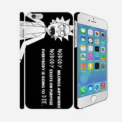 078 Rick And Morty - Apple iPhone 4 5 6 Hardshell Back Cover Case