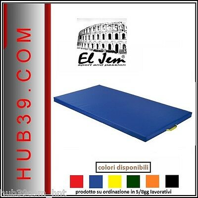 Tappetino Fitness cm.200x100x4 Tappeto Palestra Made in Italy Materassino Rosso