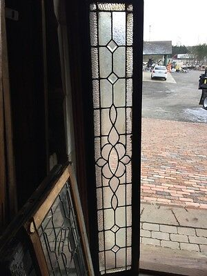 Sg 549 Antique Textured And Beveled Glass Transom Window Long
