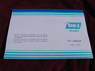 new looseleaf SPARE PARTS BOOK BSA A7 A10 1958 on-vital reference manual 00-5086
