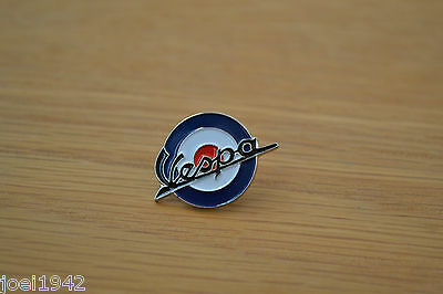 Vespa Target - Roundel   Enamel Pin Badge . Mod - Scooter  - Brand New