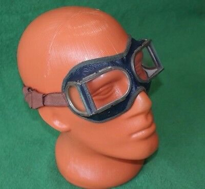Vintage Soviet Safety Goggles Glasses Motorcycle Russia USSR