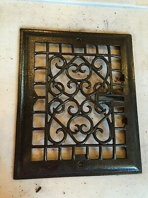 Antique Heating Grate Face Wiry Design Tc 56