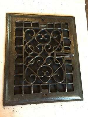 Antique Heating Grate Wiry Ornate Tc 59
