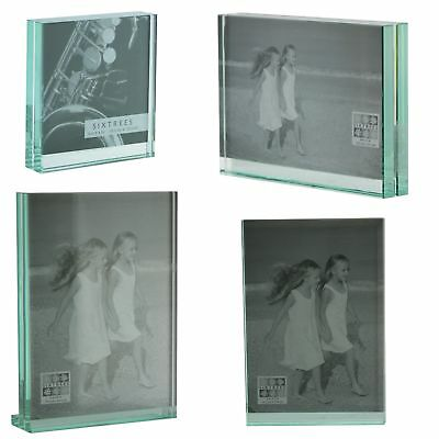 SIXTREES GT602 HEAVY Solid Square-cut Glass photo frame 4x4 - 8x6 ...