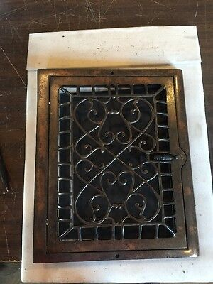 Antique Heating Grate Cast Iron Ornate Wall Mount Tc 64