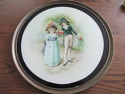 Antique Victorian Large  Flue Cover -  Boy & Girl