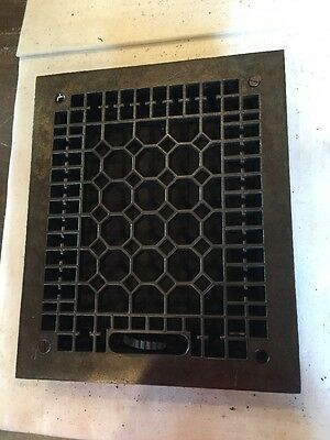 Antique Cast Iron Heating Grate Honeycomb Tc 76