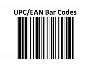 Barcodes EAN & UPC with Picturs Numbers for 10 - 10000 Lifetime D7