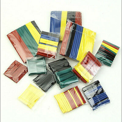 328Pcs Polyolefin 5 Colors 2:1 Heat Shrink Tubing Tube Sleeving Wrap Wire Kit