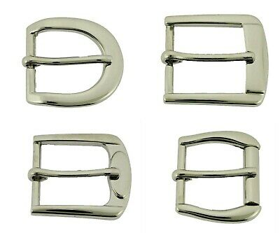 "1"" (25 mm) Prong Belt Buckle Silver Nickle Free Strap Leather Rodeo Costume New"
