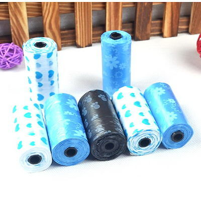 5Rolls(100PCS) Dog Pet Waste Clean Poop Bags Puppy Pick Up Pooper Bags Supplies
