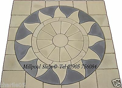 Aztec Sun circle sq off patio paving slabs stone  FREE DELIVERY NOTE EXCEPTIONS