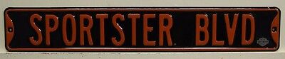 SPORSTER BLVD heavy embossed metal street style sign motorcycle Harley Davidson