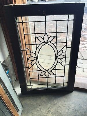 Sg 564 Antique Textured Glass Oval Beveled Glass Window