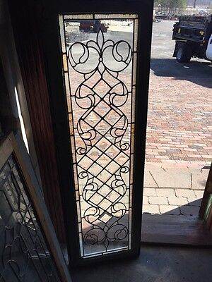 Sg 573 Antique Beveled Jeweled Textured Glass Transom Window