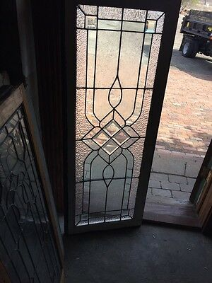 Sg 582 Antique Textured Glass Beveled Glass Center Transom Window
