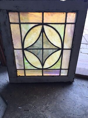 Sg 591 Small Antique Pastel Colored Stain Glass Window