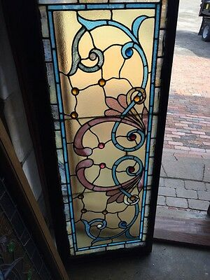St 595 Gorgeous Antique Victorian Stainglass Window Many Jewels