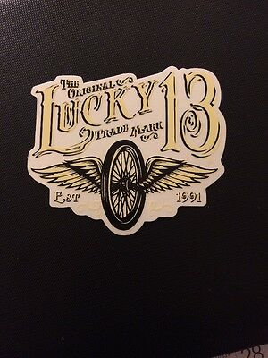 lucky 13 sticker