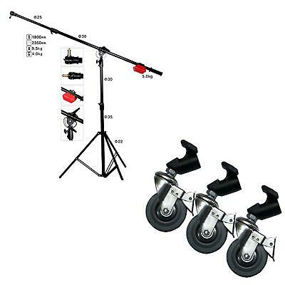 PHOTAREX LS10 Heavy Duty Boom with Stand and Counterweight and Wheels