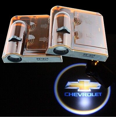 2pcs Wireless LED door Welcome Projector Logo ghost shadow light for Chevrolet