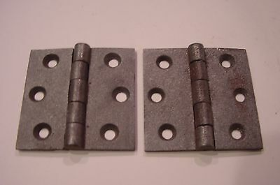 SALE PRICE / PAIR restored 3 X 3 ANTIQUE PA. CAST IRON BUTT HINGES CLEAN