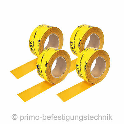 4 Roll (60mmx100m) Self-adhesive fabric-based tape for overlaps Vapour Barrier