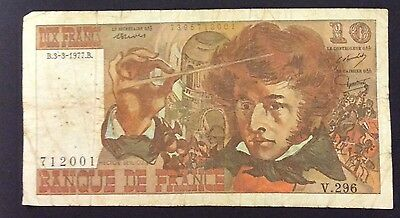 1977 10 Francs France Banknote - 712001 circulated condition