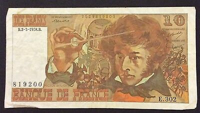 1978 10 Francs France Banknote - 819200 circulated condition
