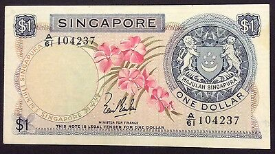 1967 $1 Singapore Banknote -circulated condition - A/61 104237
