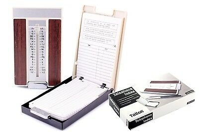 A-Z Slider Flip Open Telephone Address Index Book Store up to 400 Numbers - 6813