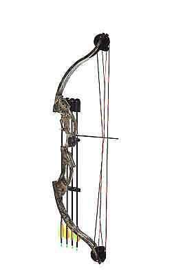 New Archery Hunting Target Kids Youth Compound Bow and Arrow Set 15-20lb