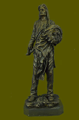 American Indian Warrior Signed Kamiko Bronze Sculpture Statue Figurine Figure