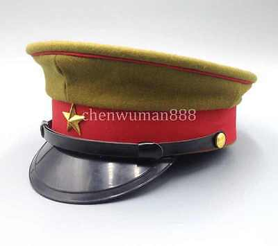 Wwii 2 Imperial Japanese Army Officer's Wool Visor Crusher Cap Cap Hat Size Xl