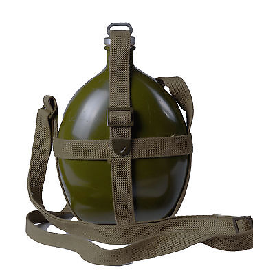 Wwii 2 Chinese Kmt Kuomintang Army Field Canteen Kettle Water Bottle Green