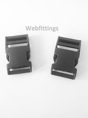 Pack 2 40mm Side Quick Release Buckles